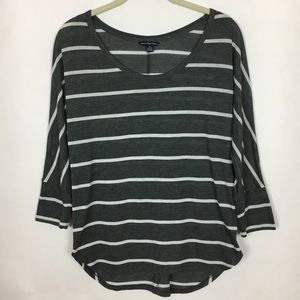 American Eagle Dolman Sleeve Striped Top Small